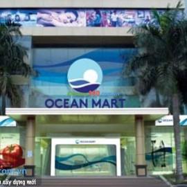 Thi công tấm cemboard làm vách ngăn siêu thị Ocean Mart