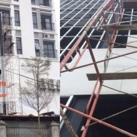 Thi công tấm Duraflex Vĩnh Tường làm vách thang Bắc Ninh
