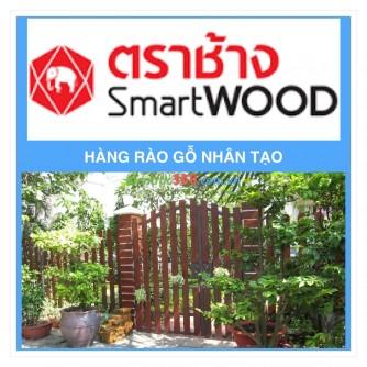 Hàng rào trắng bằng bê tông gỗ Smartwood đẹp không ngờ !